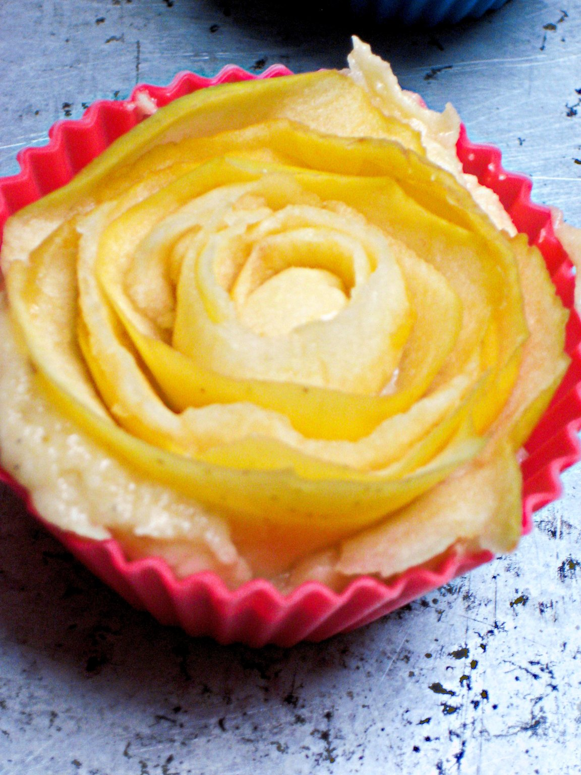 Apple Rose Muffins with Marzipan and Walnuts Recipe