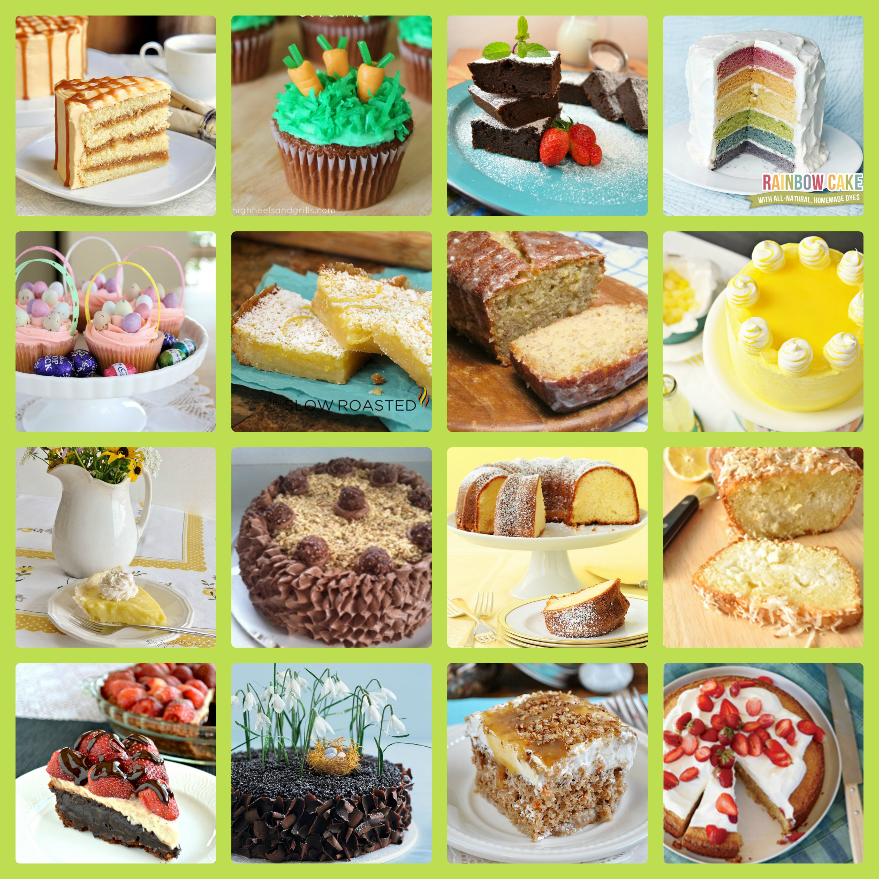 Cakes & Cupcakes Easter Recipes