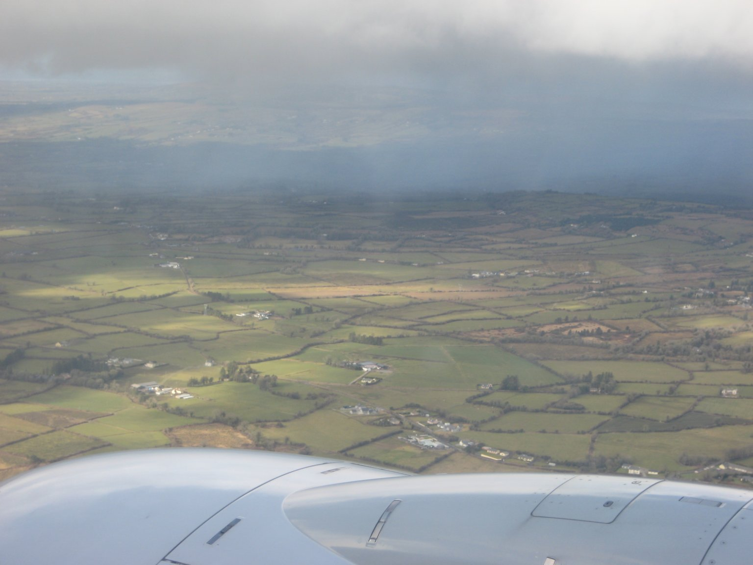 Ireland from the plane