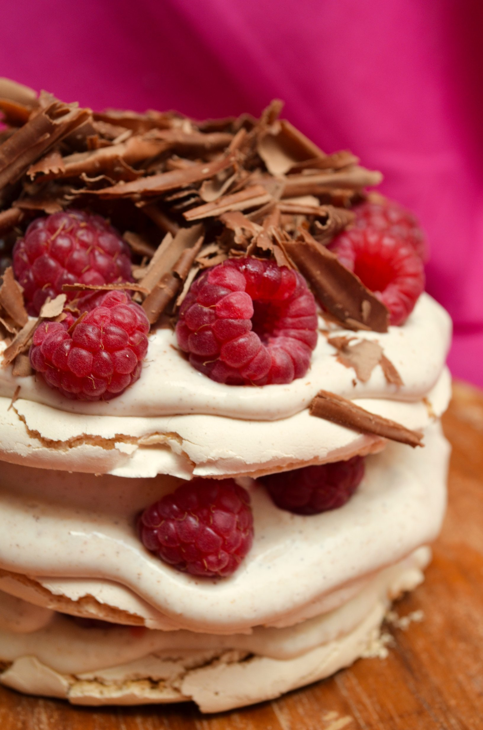 Mini Pavlovas with Lemon Curd, Raspberries and Chocolate ...