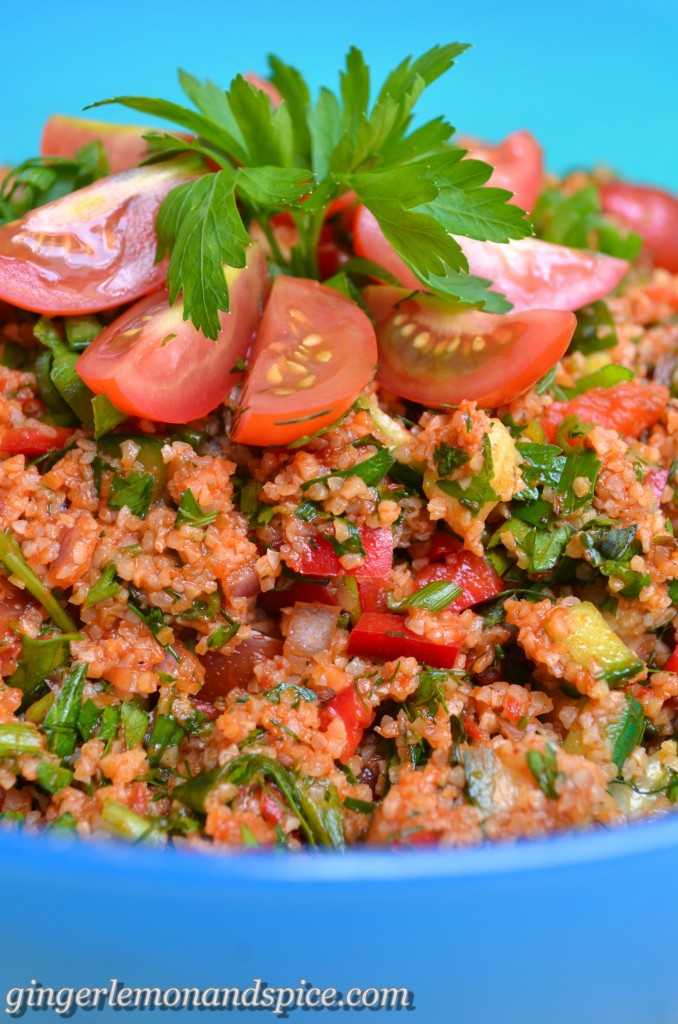 Around The World, Week by Week: Turkey - Kısır, Bulgur Salad by gingerlemonandspice