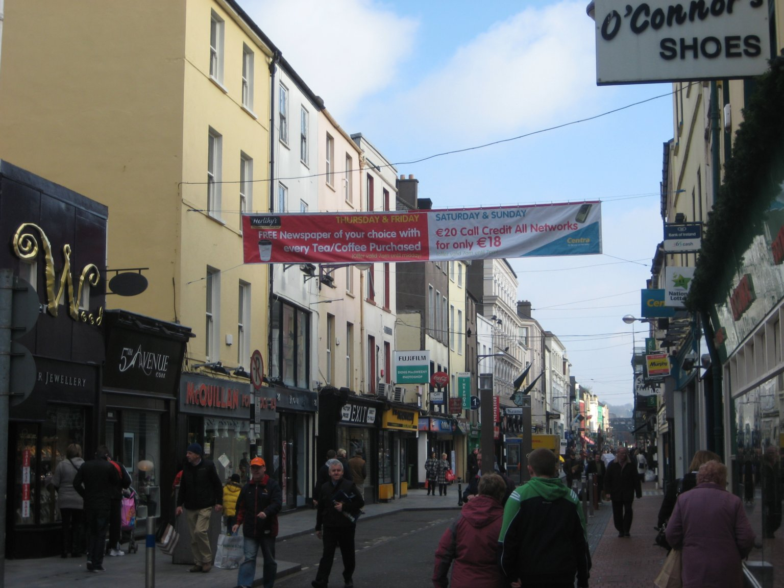 Cork shopping area