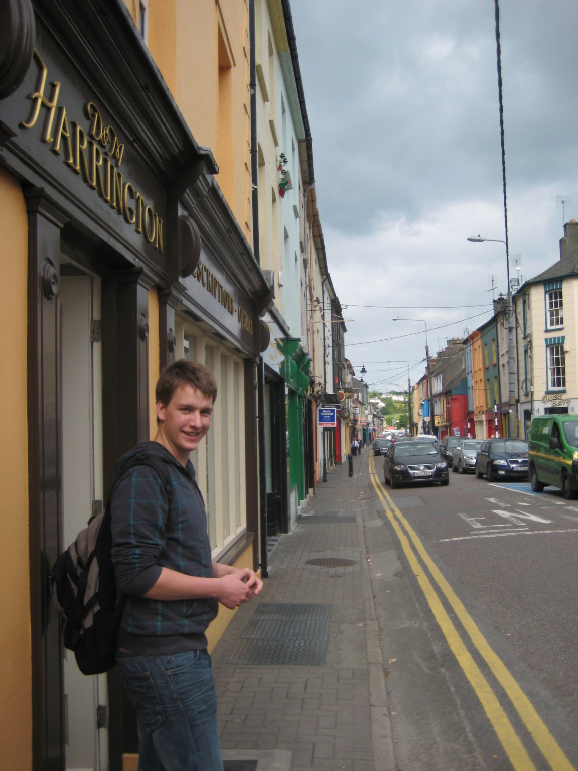 main street in Clonakilty with my brother