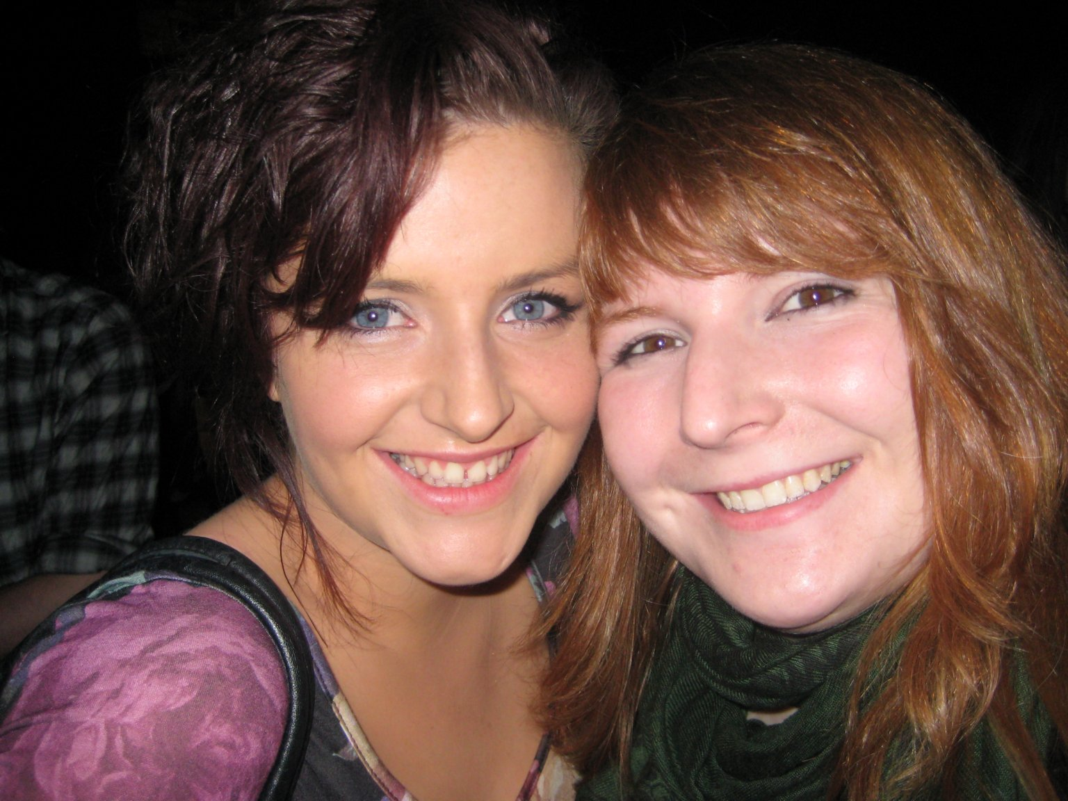 me and Áine at the gig