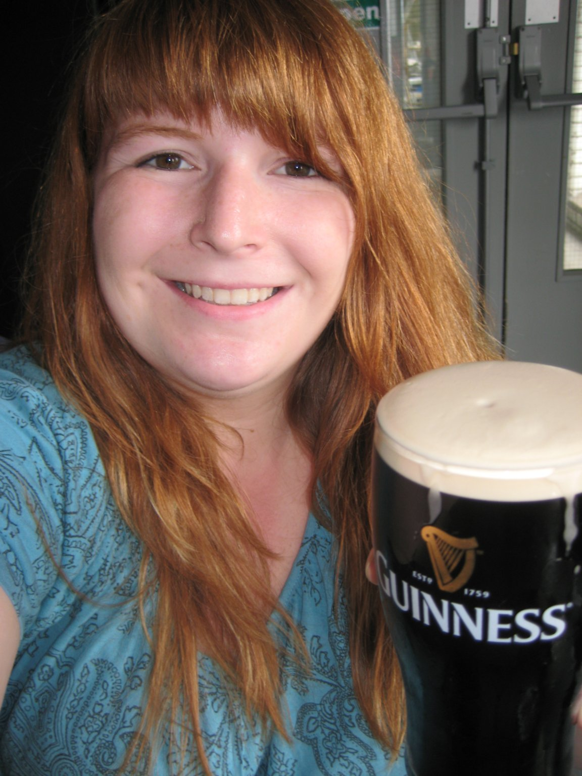 me learning how to draw the perfect pint of Guinness