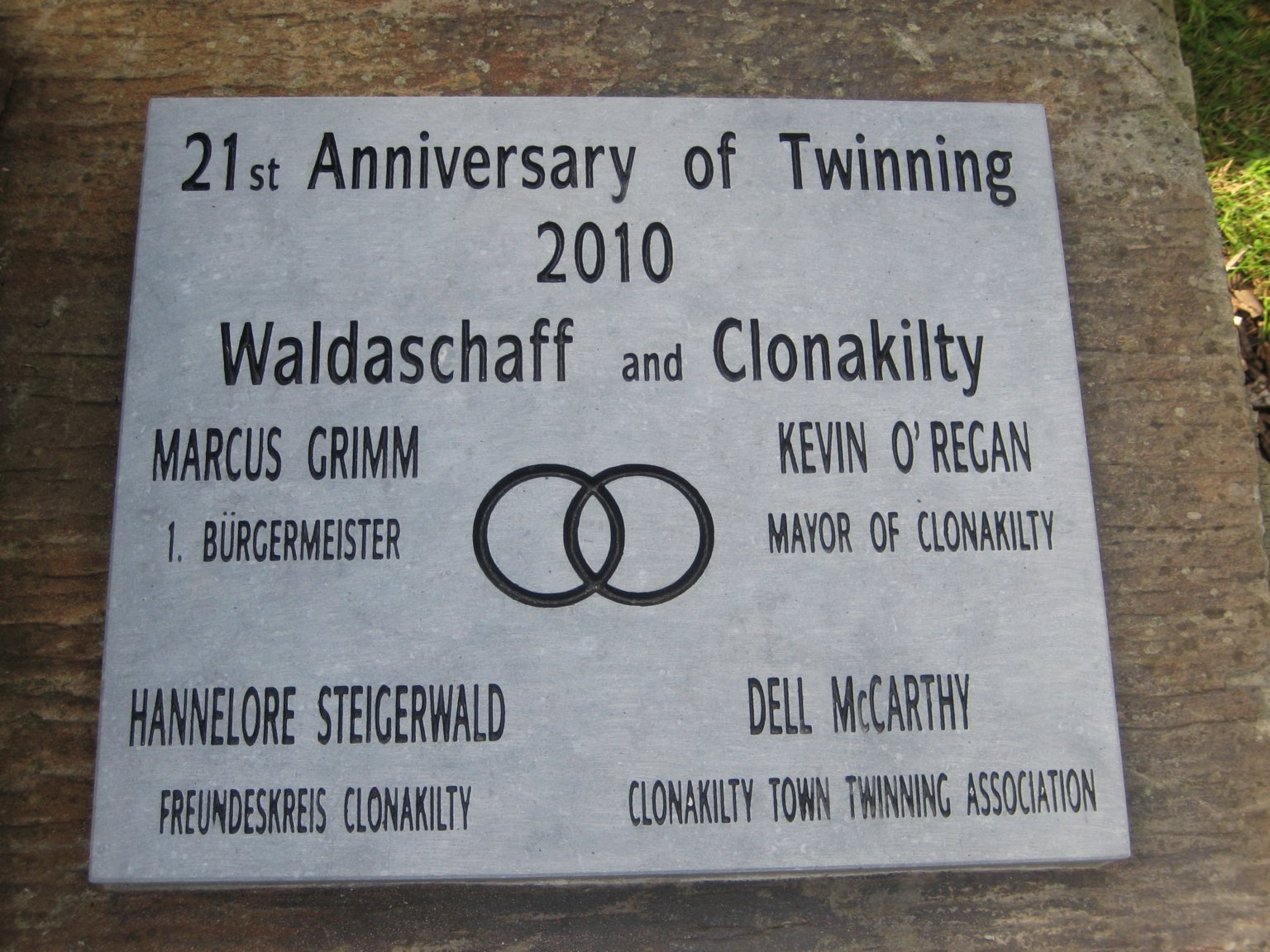 Town Twinning Anniversary Plaque