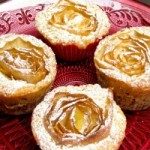 Apple Rose Muffins with Marzipan and Walnuts and the self critic in me