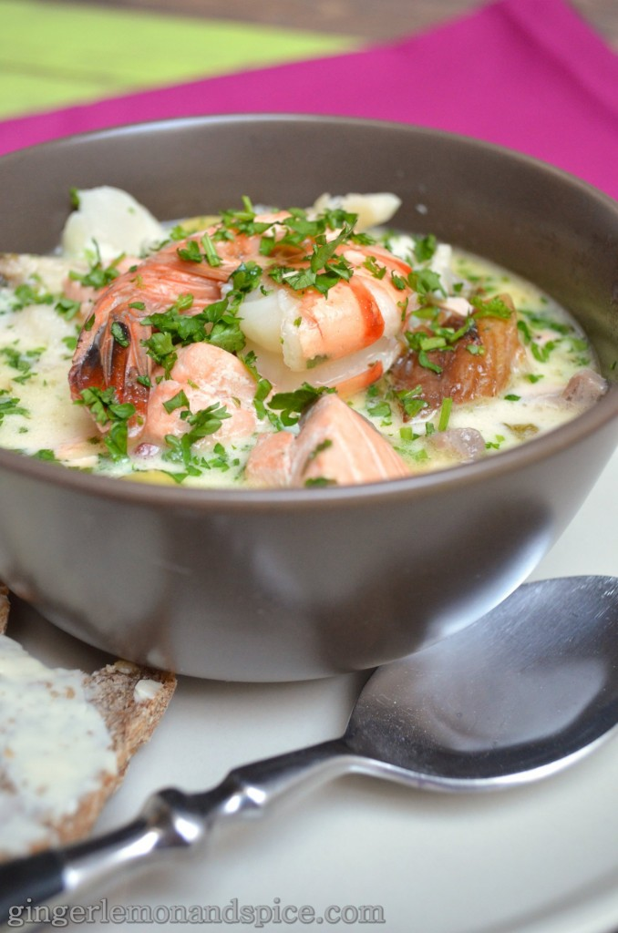 Around The World, Week by Week: Ireland - Seafood Chowder  by gingerlemonandspice