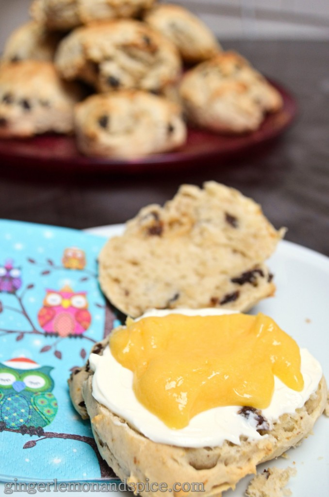 Around The World, Week by Week: Ireland -  Irish Breakfast Scones by gingerlemonandspice