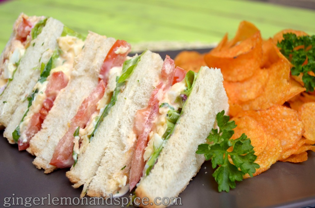 Around The World, Week by Week: Ireland -  Eggsalad Sandwiches with Crisps by gingerlemonandspice