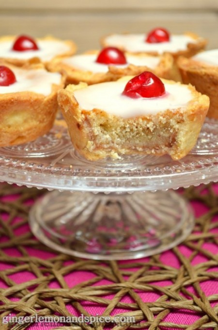 Cherry Bakewell Tarts by ginger, lemon and spice