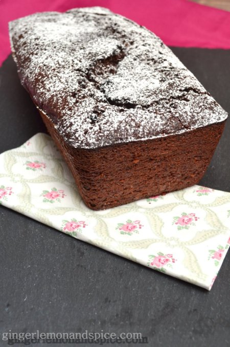 Double Chocolate Zucchini Bread with Yoghurt & Olive Oil by www.gingerlemonandspice.com